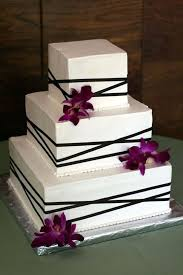 traditional square wedding cakes. Contemporary Traditional Square Wedding Cakes With Orchids Intended Traditional W