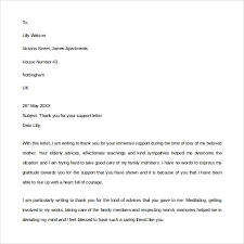 Thank You Letter For Customer Service Sample Thank You For Your Support Letter 9 Download Free