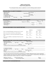 Rental Application Form Melo In Tandem Co Renters Free Printable