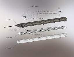 60w vapor tight light fixture led light 4 long