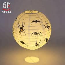 Light Up Paper Lanterns Halloween Theme Spider Design Paper Lantern With Led Buy Custom Paper Lantern Paper Lantern With Leds Led Light Up Paper Lantern Product On