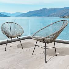 modern wicker patio furniture. Brilliant Wicker Sarcelles Modern Wicker Patio Chairs By Corvus Set Of 2 On Furniture K