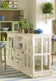 Old Frames Anchor A Kitchen Island