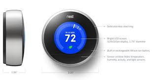 nest learning thermostat technical specifications color