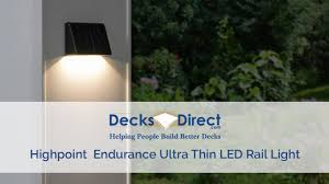 Highpoint Deck Lighting Endurance Ultra Thin Led Rail Light By Highpoint Deck Lighting