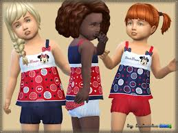 Dress Minnie Mouse by bukovka at TSR » Sims 4 Updates