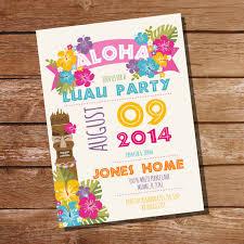 Hawaiian Pool Party Invitations Luau Party Invitation Hawaiian Party Invitation Instant Download