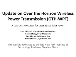 Bert Radiation Chart Update On Over The Horizon Wireless Power