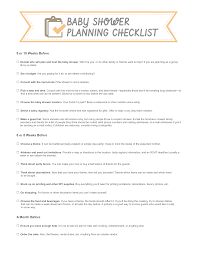 Sample Baby Shower Checklist Template For Bowtie For A Baby Shower BABY SHOWER PLANNING 9