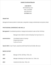 Functional Resume Examples