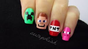 Minecraft Nail Art | Nerd Nail Series - YouTube