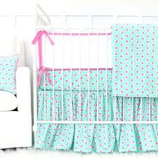 mint green crib bedding set