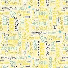 97 best Baby Fabric images on Pinterest | Baby fabric, Flannel and ... & To The Moon And Back Quilt Fabric Tossed Words Baby Children Premium Cotton… Adamdwight.com