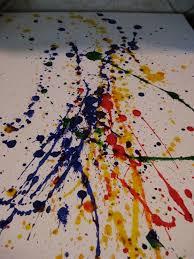 splatter painting technique however