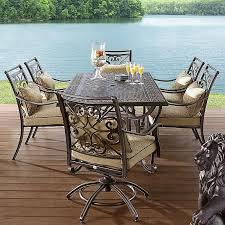 sears folding table agio aas fair oaks 7pc cast dining
