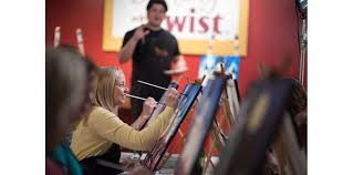 painting with a twist classroom