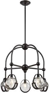 dimond 1141 062 focal point modern oil rubbed bronze with clear crystal chandelier lamp loading zoom