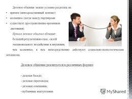 Презентация на тему Над презентацией работала студентка гр КМ  4 Деловое общение можно условно разделить