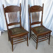 oak pressed back chairs larkin sold