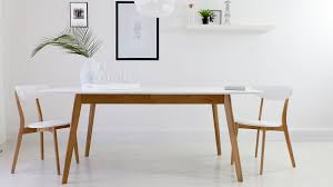 marvelous white extending dining table modern and oak set chairs