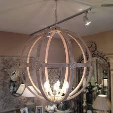 attractive wooden orb light fixture round wood chandelier chandeliers design