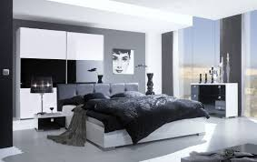 Bedroom:Superb Bedroom Interior With Gray Color Scheme Also Floor To  Ceiling Window Screens Superb