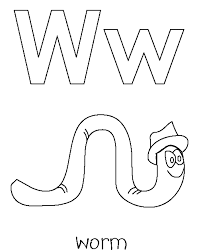 This clipart image is transparent backgroud and png format. W Is For Worm Coloring Page High Quality Coloring Pages Coloring Home