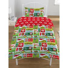 the grinch 12 days of single duvet cover set bedding bedroom