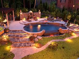 image of pool landscape lighting