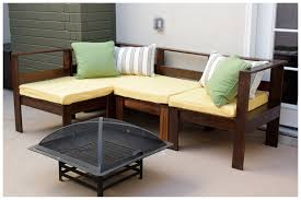 small l shaped diy outdoor couch with yellow removable cushions inspiring designs ideas of diy
