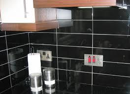 azulejo nero brillo kitchen wall tile