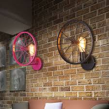 industrial lighting for home. Loft Industrial Iron Water Pipe Light. Creative Bicycle Wheel Lamp Bar Inn Home Lighting Fixture Deco Art-in Wall Lamps From Lights \u0026 On For