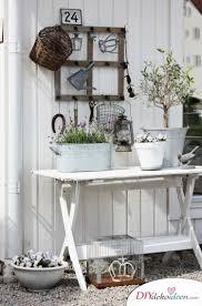 Alte Fenster Dekorationkies Weiss Klapptisch Lavendel Landhausstil