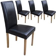 dining chairs faux leather. set of 4 faux leather dining chairs black with padded seat \u0026 oak finish legs r
