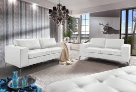 Sale Wohnlandschaft Polstergarnitur 2tlg Weiß Belair