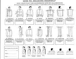 Measurement Suit Measurements Tailored Suits Measurement
