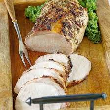 roasted pork loin with garlic and rosemary