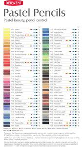 Derwent Procolour Lightfast Chart Derwent Pastel Pencils Colour Chart In 2019 Derwent