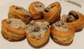 mushroom and brandy vol au vents