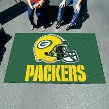 green bay packers rug mat rugs bathroom area