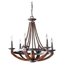 rustic wood chandelier six iron and burnished wood chandelier rustic round wood chandelier