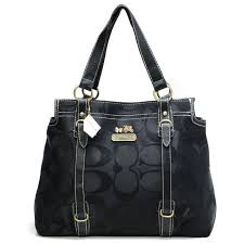 Best Style Coach Logo Monogram Large Black Totes Bnb Outlet nWNuG