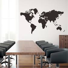World Map Wall Decal Large Size Murals For Office Room Pvc Self Adhesive World Map Vinyl Sticker For Living Room Study Home Decor Wall Peels Wall