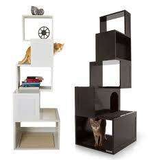 cat furniture modern. view in gallery modern cat trees black and white furniture a