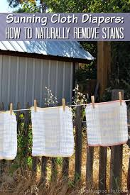 remove stains from cloth diapers