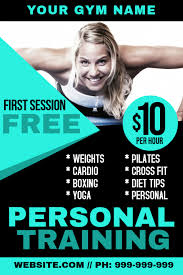 Personal Training Poster Template Postermywall