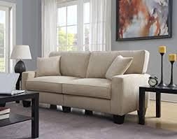 73 inch sofa. Fine Inch Serta At Home Sofa2Go Navarre Collection Sofa Beige Fabric 73Inch  CR45010B With 73 Inch Sofa