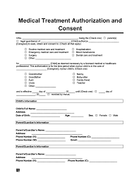 create a child cal consent form in