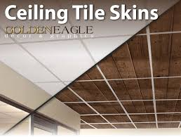 lot of 6 ceiling tile skin glue up wide dark knotty pine wood decorative panel