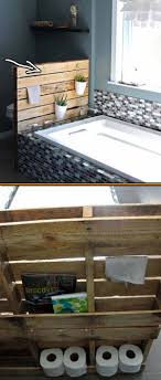 Pallet Wall Bathroom 27 Beautiful Diy Bathroom Pallet Projects For A Rustic Feel